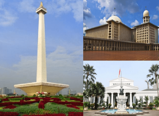 Explore National Monument, National Museum & Istiqlal Mosque